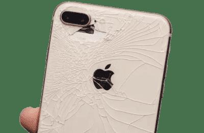 разбито заднее стекло айфон