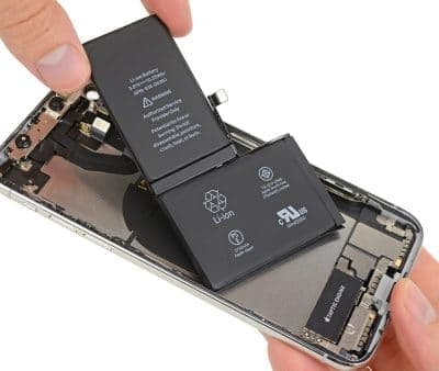 замена аккумулятора айфон х