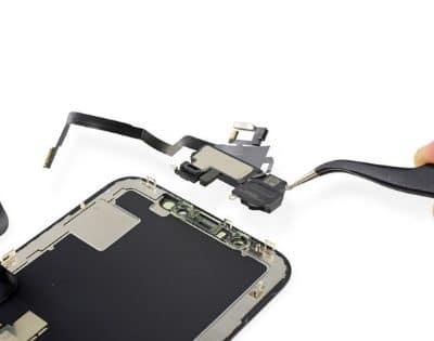 замена слухового динамика айфон х
